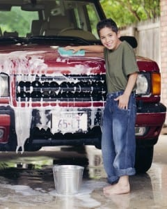 Children can help you have a clean car, too.