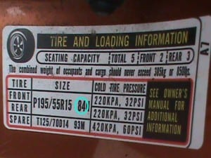 load rating for your tires