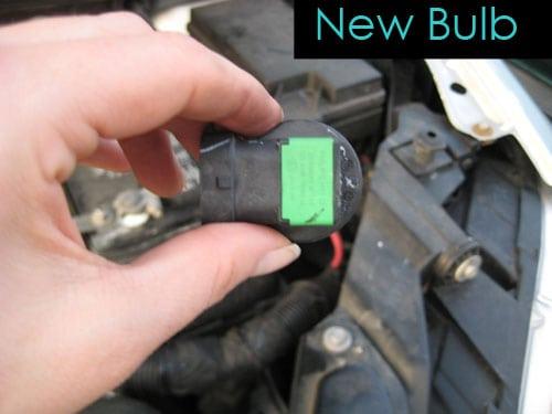Insert the new bulb