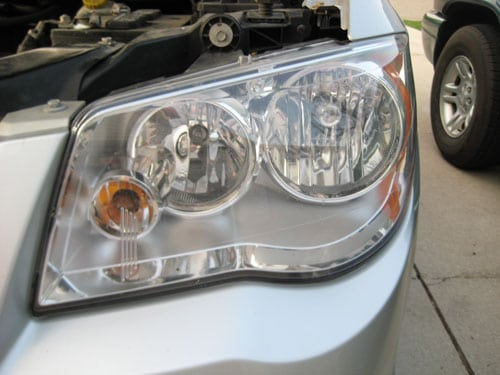 Open the hood - change a headlight