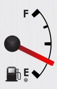quarter full gas tank