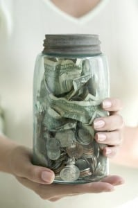 Save Money at a Dealership Money Jar