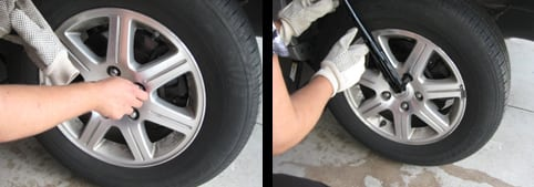 Replace the lug nuts