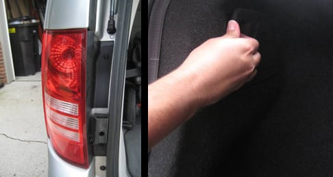 Determine how to remove the tail light - change a tail light