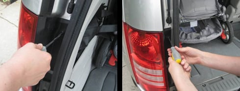 loosen any fasteners - change a tail light