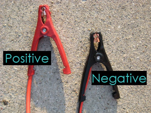 positive and negative clips