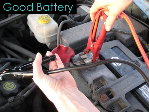 Good battery connection - dead car battery