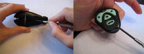 Locate the slot - key remote