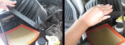Remove the old air filter - change the air filter