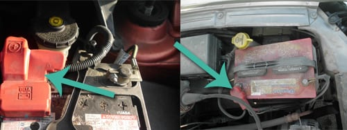 remove post covers - dead car battery
