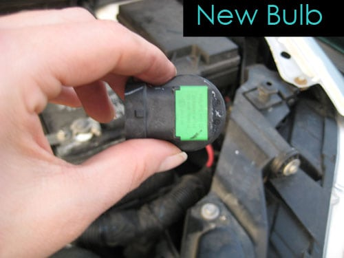Insert the new bulb